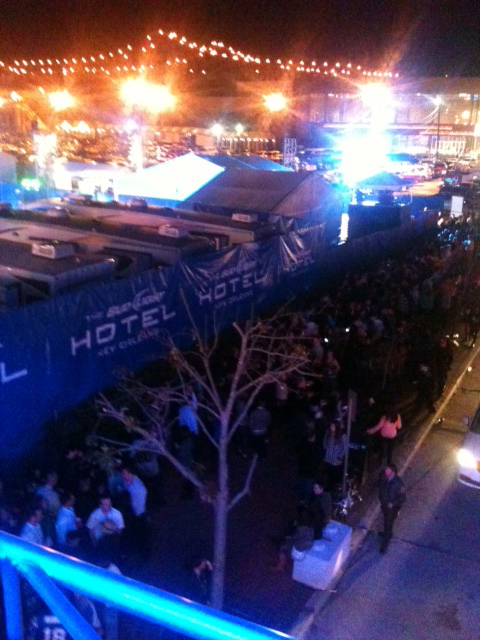 Bud Light Hotel night